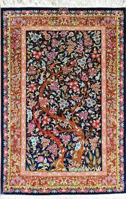 فرش-دستباف-طرح-درختی